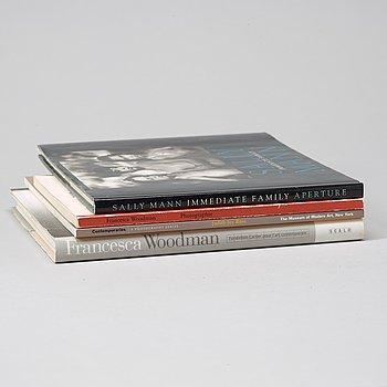 Fotoböcker, 4 st, b.la. Francesca Woodman.