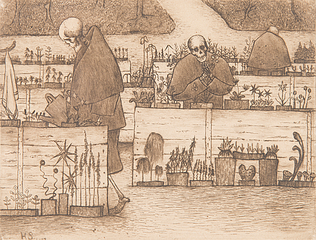 Etching, signed and dated 1897