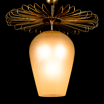 A mid-20th century pendant light for Taito/Idman, Finland.