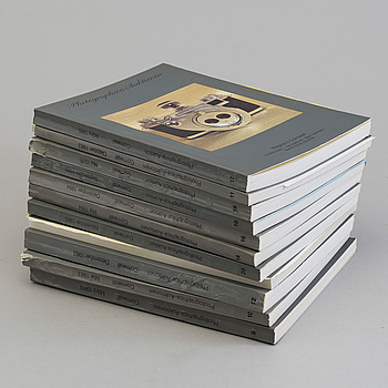 AUKTIONSKATALOGER, 11 stycken,  Photographica Auktionen, 1983-85.