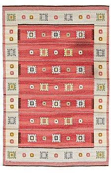 323. CARL DANGEL, MATTO, flat weave, ca 303,5 x 201,5 cm, signed CD (Carl Dangel).