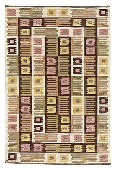 "314. Märta Måås-Fjetterström, A CARPET, ""Nyponblomman"", flat weave, ca 245,5 x 161,5 cm, signed AB MMF."