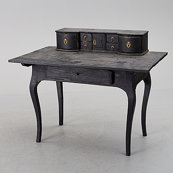 A second half of the 18th century painted rococo writing desk.