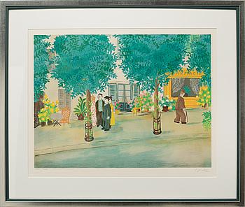 LENNART JIRLOW, färglitografi, signerad och numrerad 221/400.
