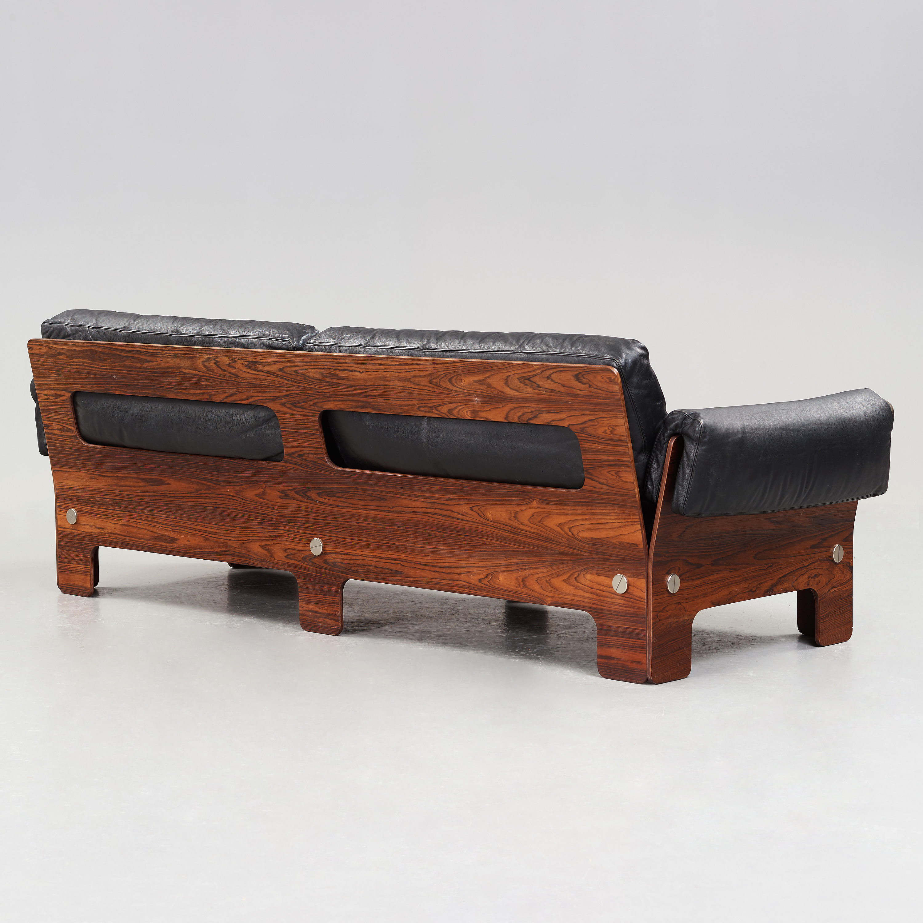 A Scandinavian palisander and leather sofa, 1960\'s/70\'s ...