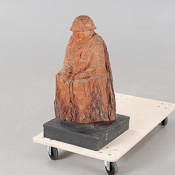 ALF NILSSON, skulptur, trä, ej signerad, 1900-tal.