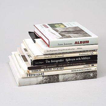 Photo books, 11, e.g Sune Jonsson.