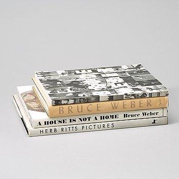 Fotoböcker 4 st, b.la. Herb Ritts.