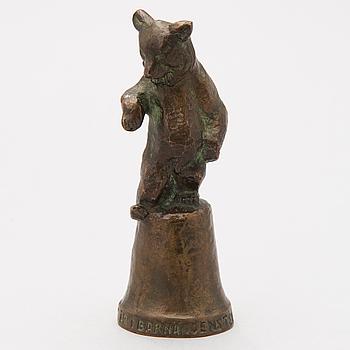 JUSSI MÄNTYNEN, brons, signerad -55.