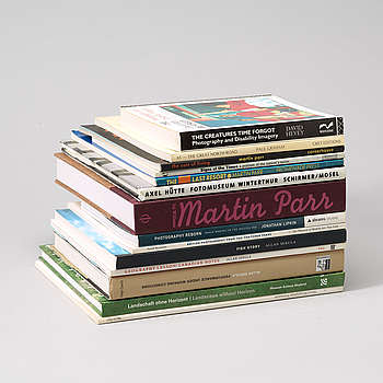 Photo books, 13, e.g Martin Parr.