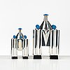Michael graves, a five pieces sterling tea- and coffee service, limited edition by alessi, italy 1985.