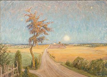 PRINS EUGEN, olja på pappannå, signerad, daterad à tergo 1933.