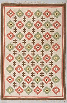 MATTO, flat weave, ca 300,5 x 207,5 cm, Sweden first half of the 20th century.