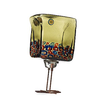 "33. Alessandro Pianon, a ""Pulcino"" glass bird, Vistosi, Italy 1960's, model S191."