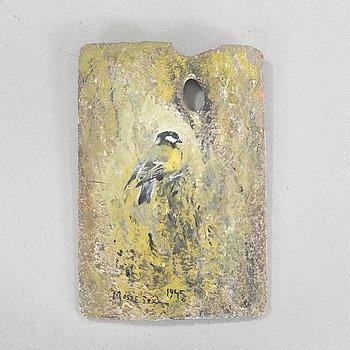 MOSSE STOOPENDAAL, bl.a olja på träpalett, signerad och daterad 1945.