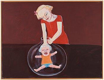 """105. LENA CRONQVIST, """"Flicka med glaskolv""""."""