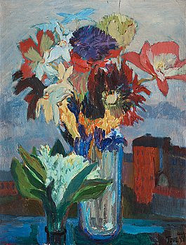 341. Tove Jansson, Still life with spring flowers.