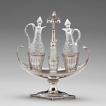 Pehr Zethelius, bordssurtout, silver, Stockholm 1799, sengustaviansk.