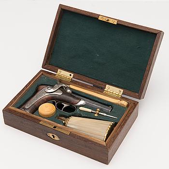 A Delvigne model percussion pistol, second half of 19th Century.