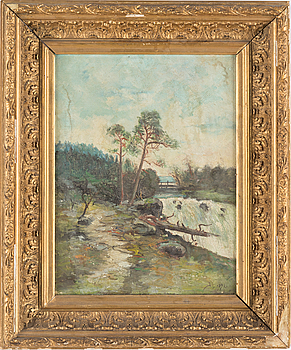 UNKNOWN ARTIST 19TH CENTURY, oil on canvas, unsigned, dated 1892.