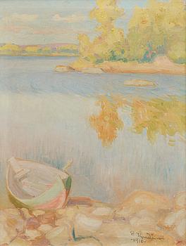 EMIL KYMÄLÄINEN, oil on canvas, signed and dated 1910.
