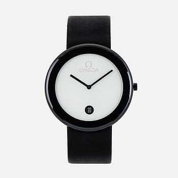OMEGA, Art Collection, Maxi, designad av Max Bill, armbandsur, 40 mm,