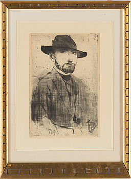 AXEL FRIDELL, AXEL FRIDELL, dry point etching, printed signature and dated 1917.