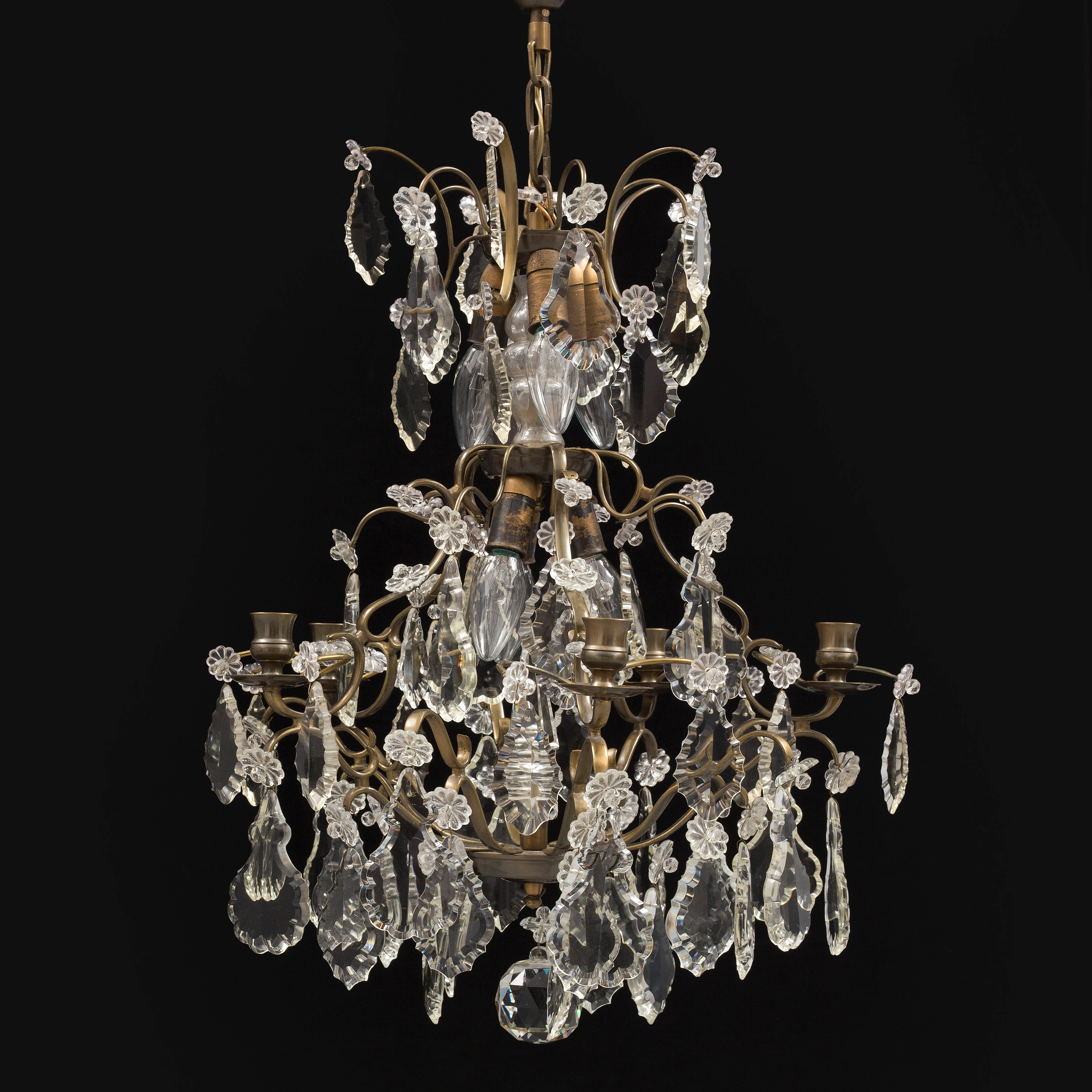A Rococo style chandelier first half of the 20th Century Bukowskis