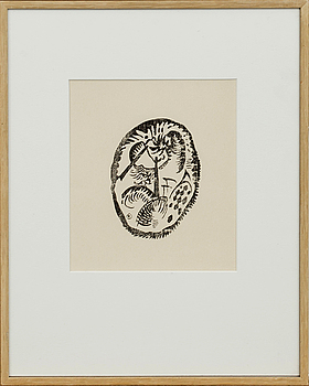 Wassily Kandinsky, litografi, ur Derrière le Miroir no 42 1951, specialutgåva om 15 ex.