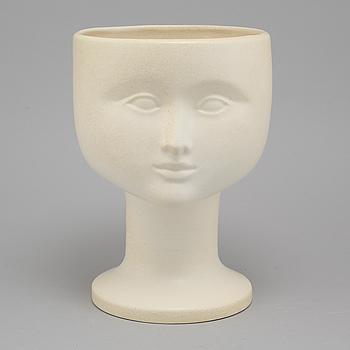 A stoneware flowerpot by Lisa Larson for K-Studion Gustavsberg, second half of the 20th century.