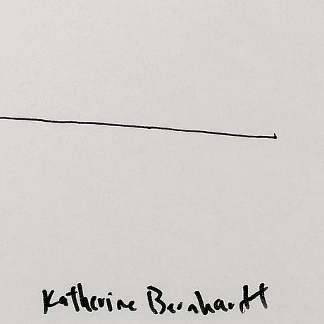 Katherine bernhardt, signed katherine bernhardt. felt tip pen on paper.