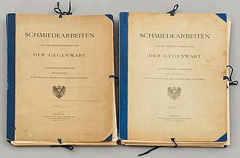 Schmiedearbeiten aus den besten werkstätten, vol II- III, Berlin Verlag von Ernst Wasmuth. 1872.