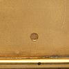Cigarrettetui, förgylld silver, mästarstämpel 'ar', s:t petersburg 1908 1917