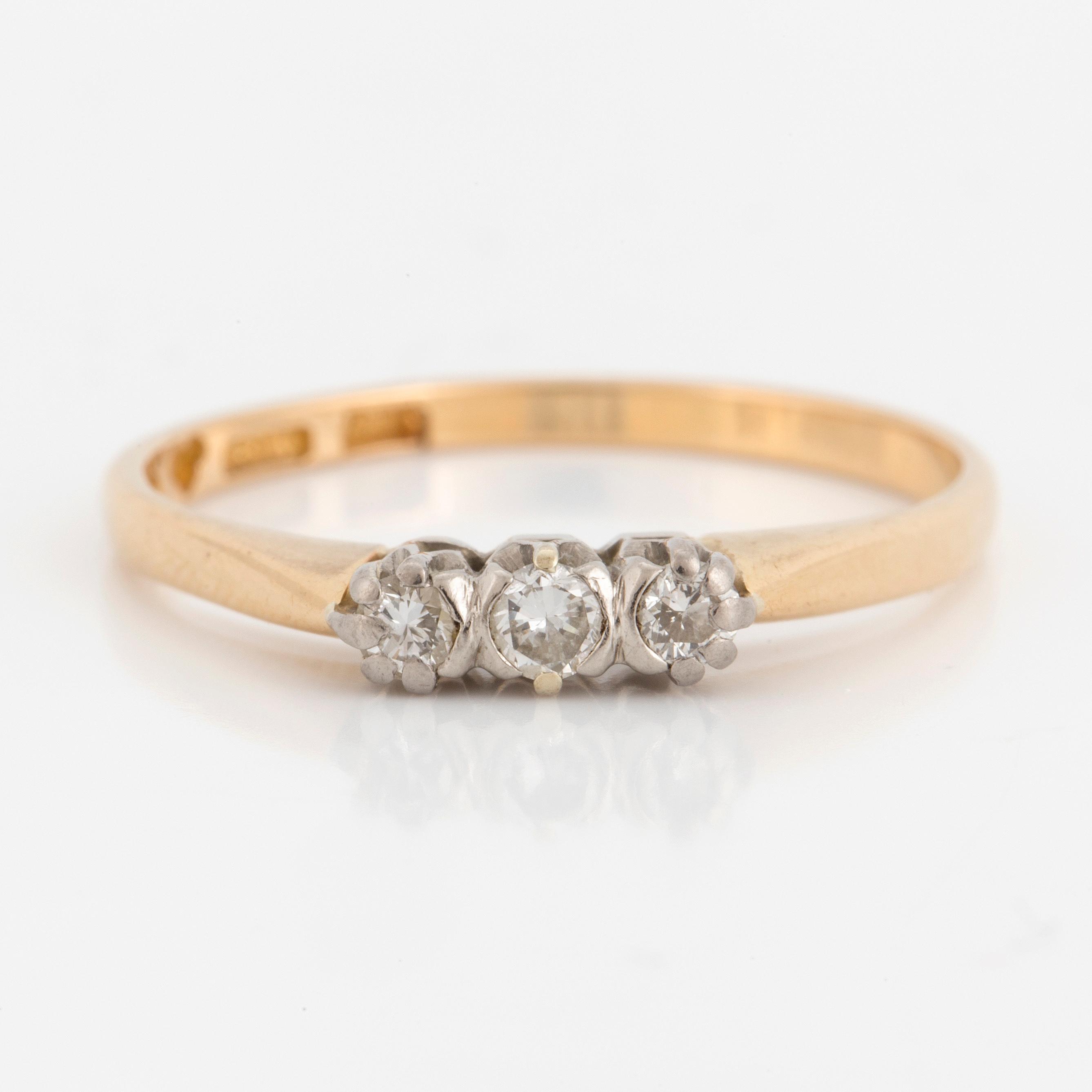 ring tre diamanter