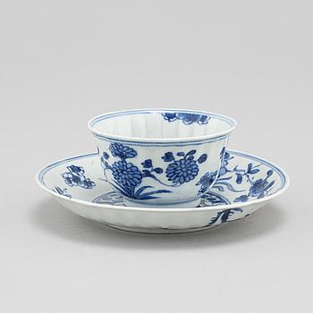 KOPP med FAT, porslin, Kina, Kangxi (1662-1722).