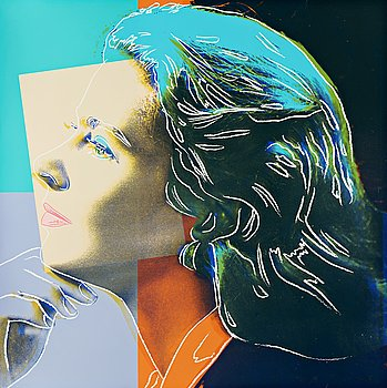 "236. Andy Warhol, ""Herself"", from: ""Three portraits of Ingrid Bergman""."