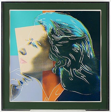 "Andy warhol, ""herself"", ur: ""three portraits of ingrid bergman""."