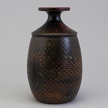 STIG LINDBERG, STIG LINDBERG, a stoneware vase, Gustavberg Studio, Sweden.
