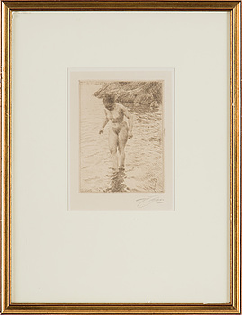 ANDERS ZORN, etching, 1915, signed in pencil.