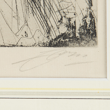 Anders zorn, etching, 1904, signed in pencil