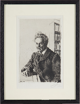 ANDERS ZORN, etching, 1910, signed in pencil.