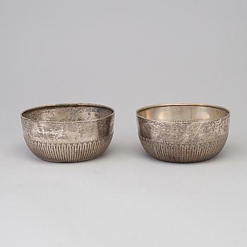 SKÅLAR, ett par, silver, GAB, 1909.