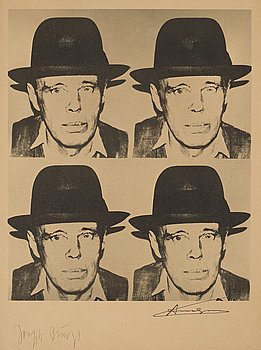 "239. Andy Warhol After, ""Josef Beuys""."