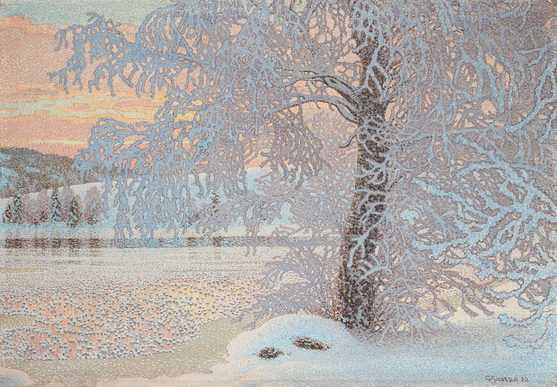 Gustaf Fjaestad, Rimfrost. - Bukowskis