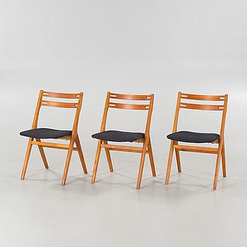 STOLAR, 3 st,  troligen Arne Vodder och Helge Sibast, Sibast Furniture, Danmark, 1950/1960-tal.