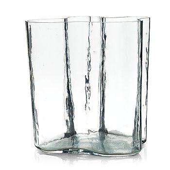 16. Alvar Aalto, a clear glass vase, Iittala, Finland 1950-60´s, model 3031.