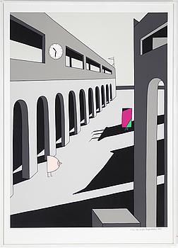 MARIE-LOUISE EKMAN, färgserigrafi, signerad och daterad 1983, numrerad 22/90.