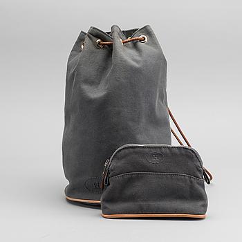 """HERMES, """"Polochon Mimile"""", väska med tillhörande pochette."""