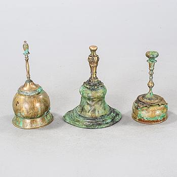 LARS STOCKS, skulpturgrupp, 3 delar, metall, signerad, en del daterad 2006.
