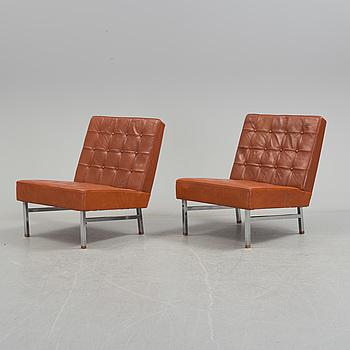 KARL ERIK EKSELIUS, fåtöljer, ett par, JOC möbler, Vetlanda, 1960-tal.